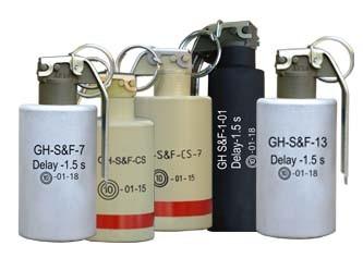Sound and Flash hand grenades