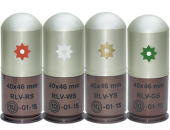 40x46 mm rounds with star grenades