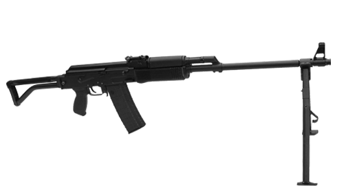 5.56x45 mm and 7.62x39 mm LMG-M4F