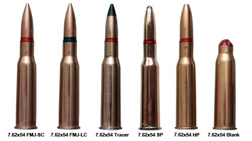 7.62x54 mm cartridges