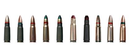 7.62x39 mm cartridges