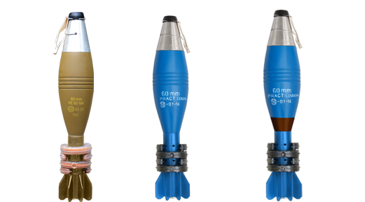 60 mm HE60 MA, PRACT 60MA and PRACT 60MATM